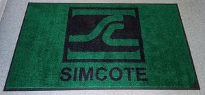 Business logo entryway floormats