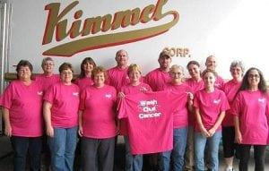 Wash Out Cancer -Charity Shirts Fundraiser Kimmel employees.